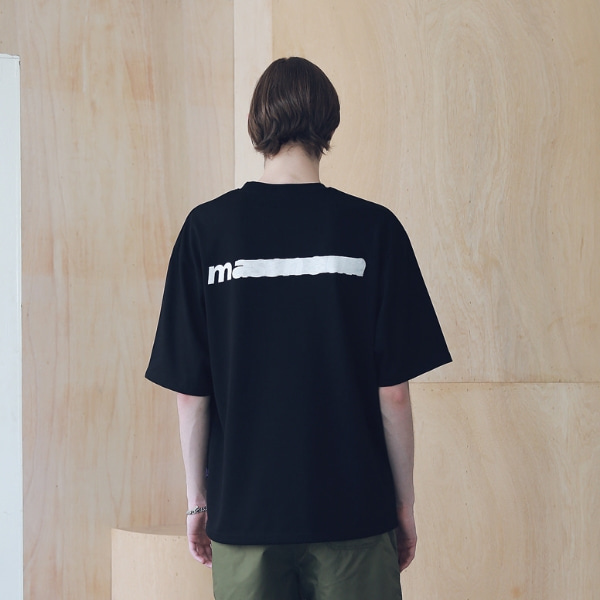 SL LOGO SEVERAL LINE OVERSIZED T-SHIRTS MSNTS006-BK