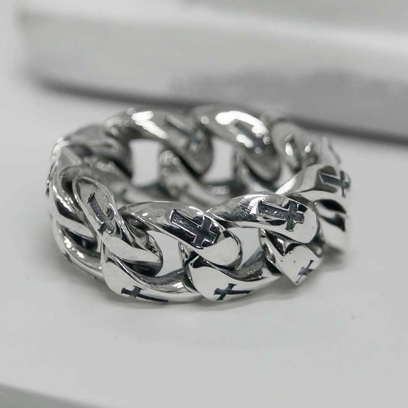13MM CROSS CHAIN RING