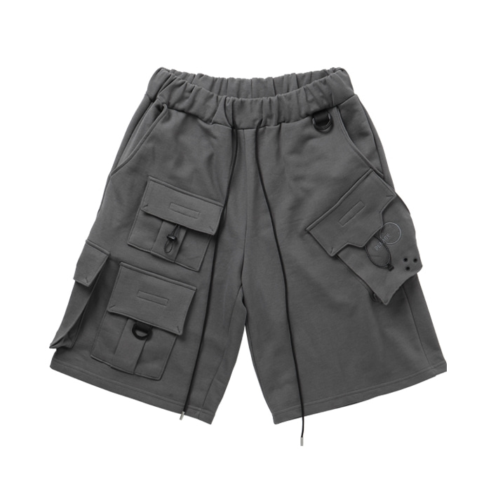 FOCUS TECH WEAR CARGO SHORTS GREY
