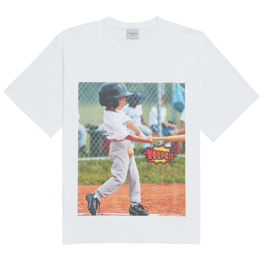 ADLV WOOPS BASEBALL SHORT SLEEVE WHITE