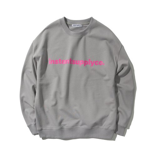ISC BASIC LOGO CREWNECK GREY