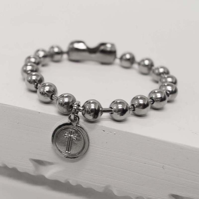 8MM BALL CHAIN COIN BRACELET