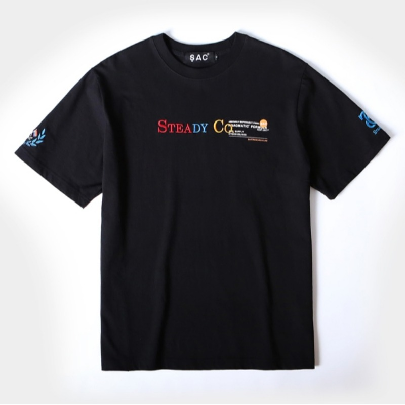 STEADY CO T-SHIRTS BLACK