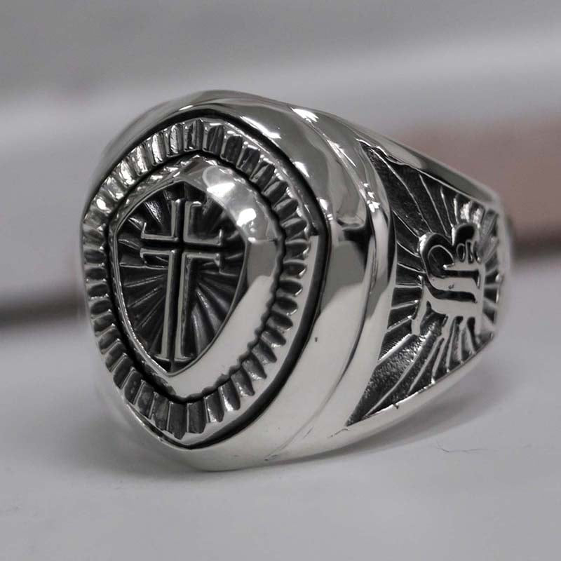 CROSS SHIELD RING (SILVER 925)