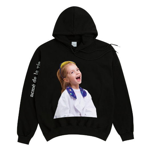 ADLV BABY FACE HOODIE BLACK LABORATORY