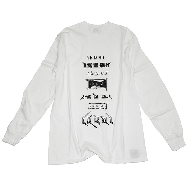 IKUMI LOGO LONG T (WHITE)
