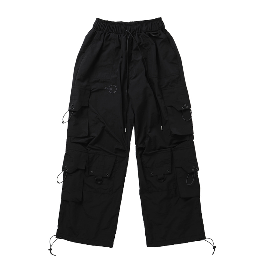 9 POCKET CARGO PANTS BLACK
