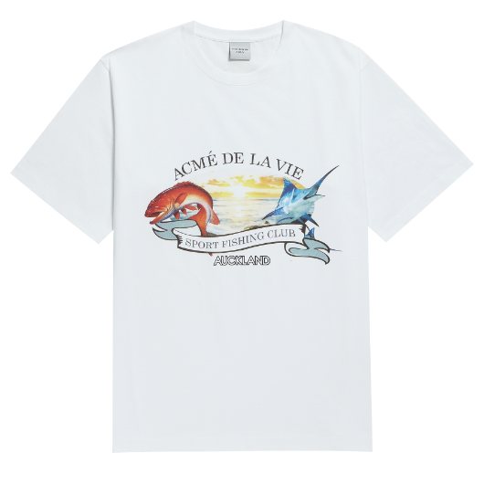 ADLV FISHING CLUB SHORT SLEEVE WHITE