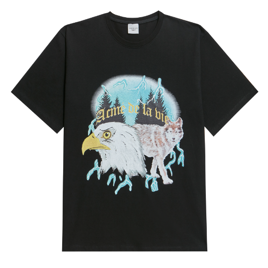 ADLV WOLF CMYK SHORT SLEEVE T-SHIRT BLACK