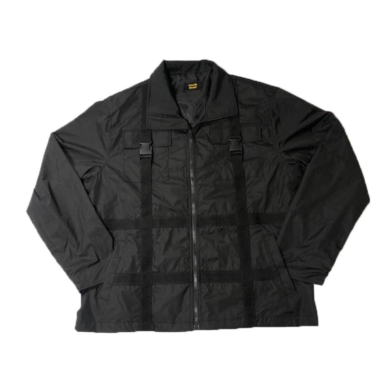 STRAP WINDRUNER JACKET BLACK