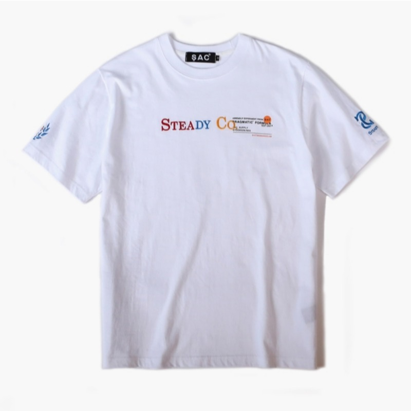 STEADY CO T-SHIRTS WHITE