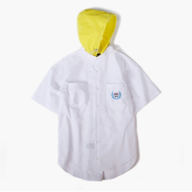 HOODED OVER SHIRTS WHITE