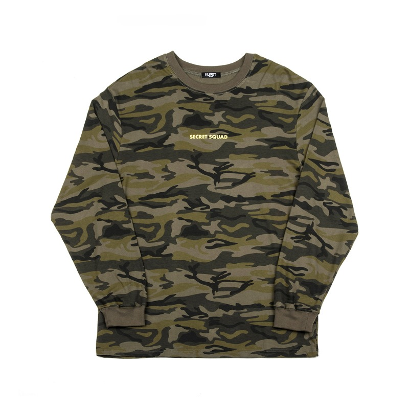 SECRET SQUAD LONG SLEEVE T-SHIRT CAMO