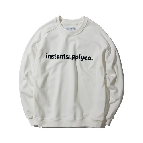 ISC BASIC LOGO CREWNECK WHITE