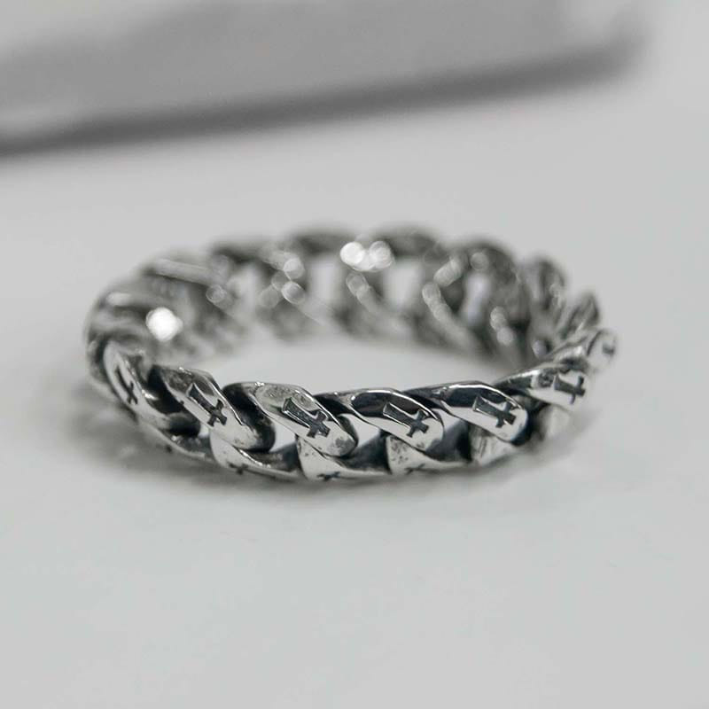 6MM CROSS CHAIN RING (SILVER 925)