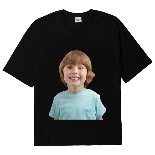 ADLV BABY FACE SHORT SLEEVE T-SHIRT BLACK MINT BOY