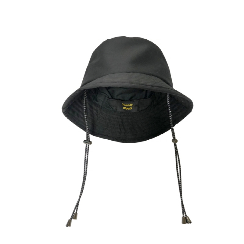 SCOTCH ROPE BUCKET HAT BLACK