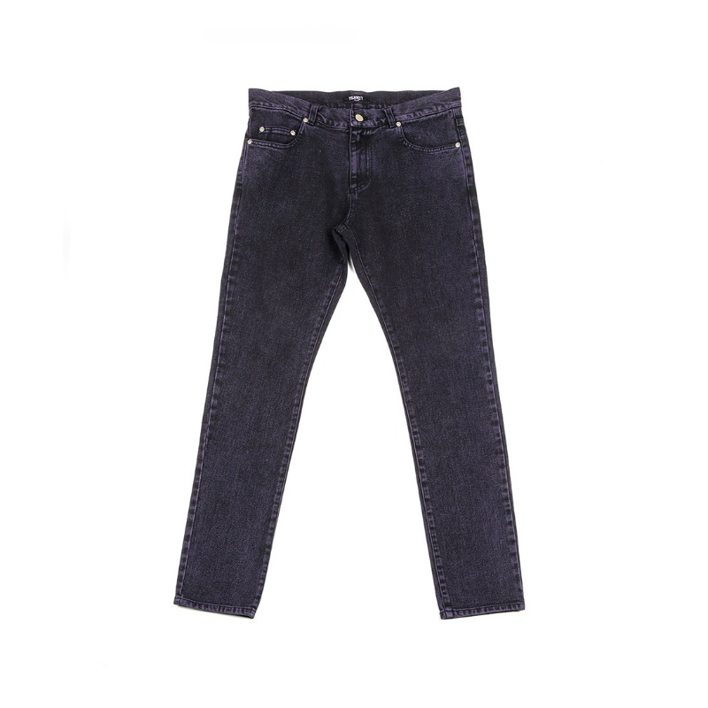 STONE WASHED SKINNY JEANS PURPLE