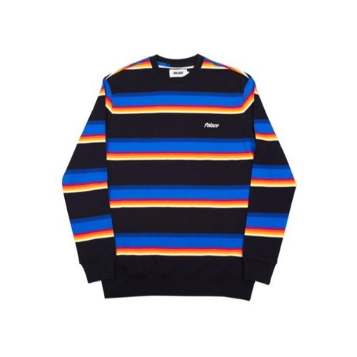 STRIPE 320 CREW NECK BLACK