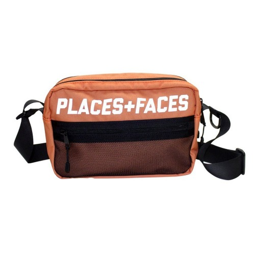 "[PLACES+FACES] ""P+F"" POUCH BAG / ORANGE"