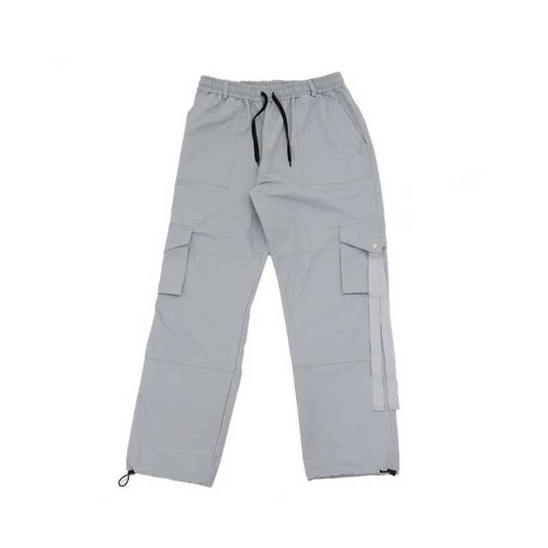 HIDDEN STRAP POCKET PANTS GREY