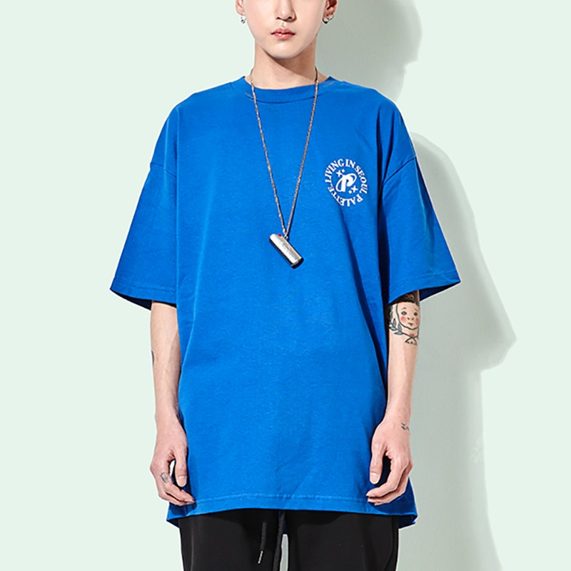 LIVING IN SEOUL TEE (BLUE)