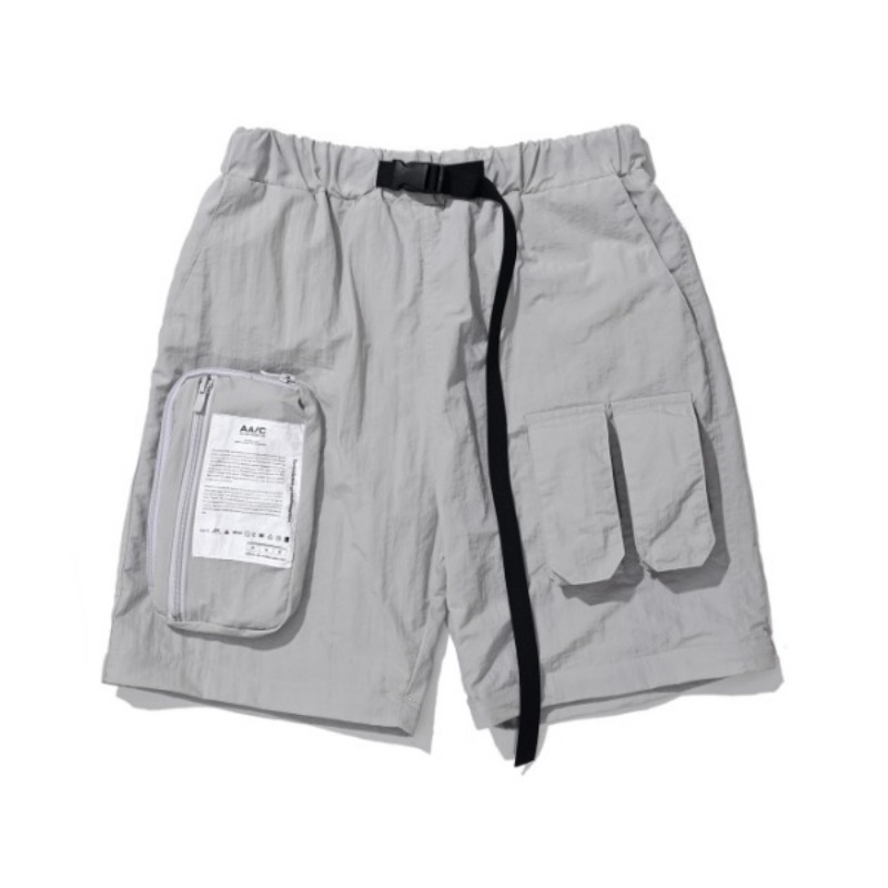 ZIPPERED HYBRID SHORTS GREY
