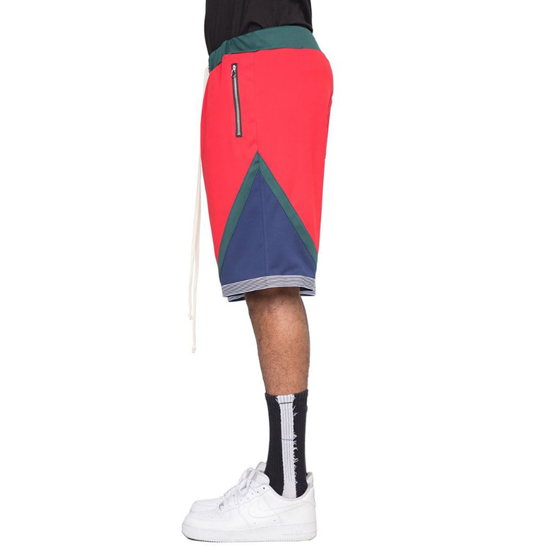 TRI-COLOR SHORTS (RED)