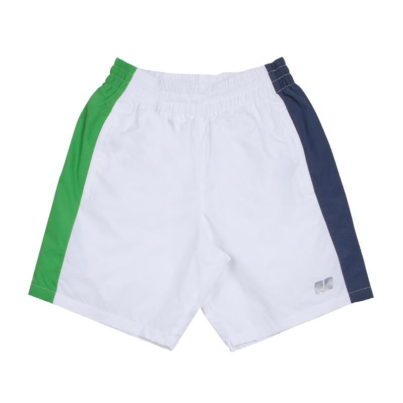 LINE TRACK SHORTS WHITE/GREEN