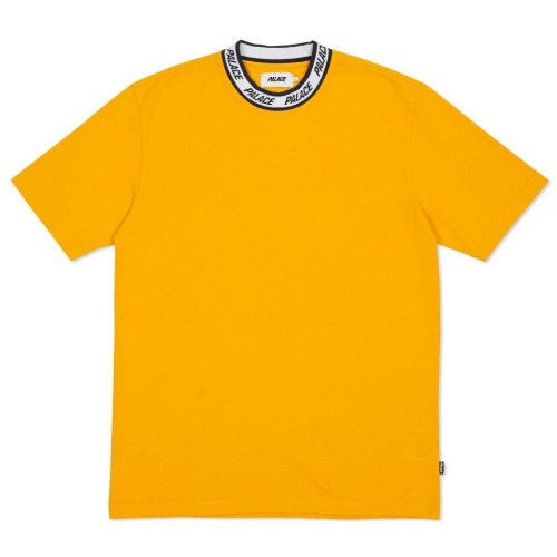 LOGO NECK T-SHIRT YELLOW