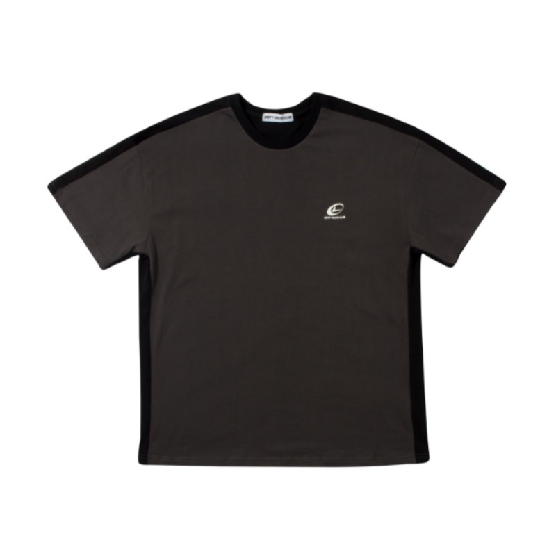 DOUBLE COLOR T-SHIRT BLACK