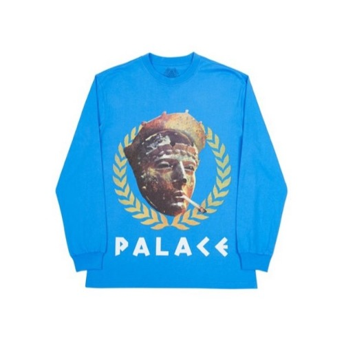 PEASER LS T-SHIRT BLUE