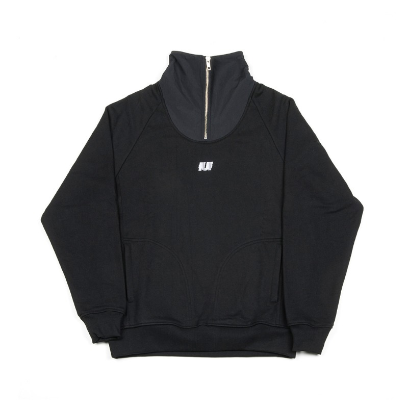 HIGH QUALITY FABRIC TRACK TOP BLACK
