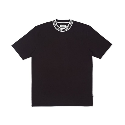 LOGO NECK T-SHIRT BLACK