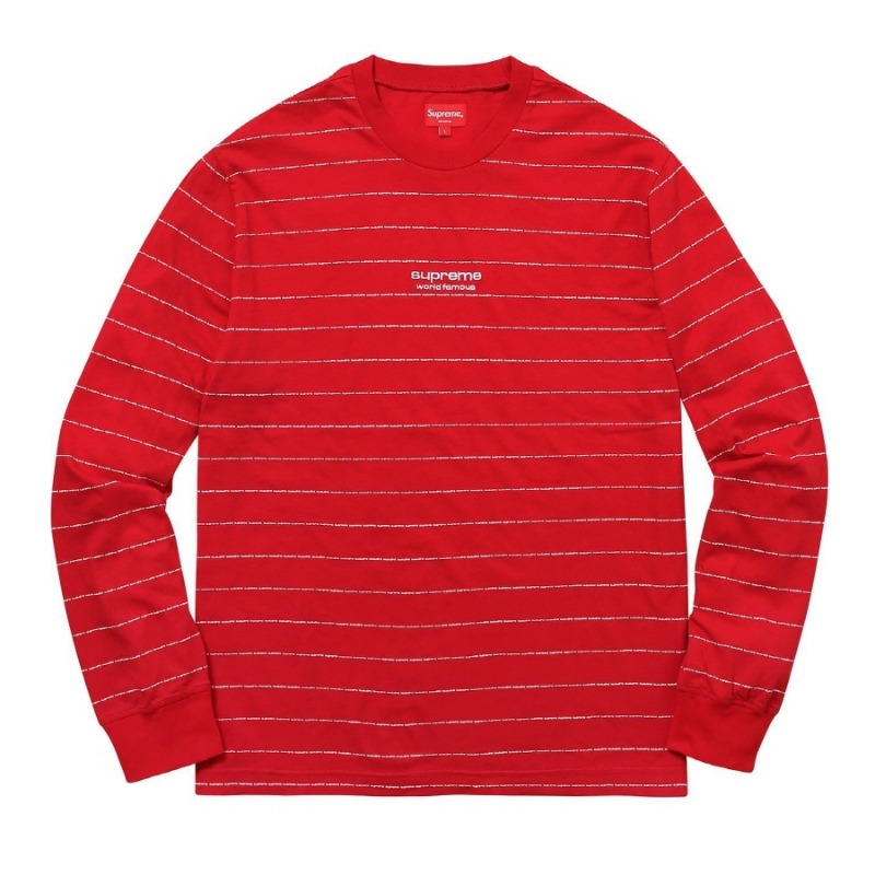 LOGO STRIPE LS TOP RED