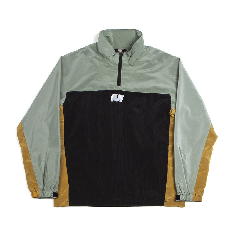 LOGO TRACK TOP BLACK/GREEN