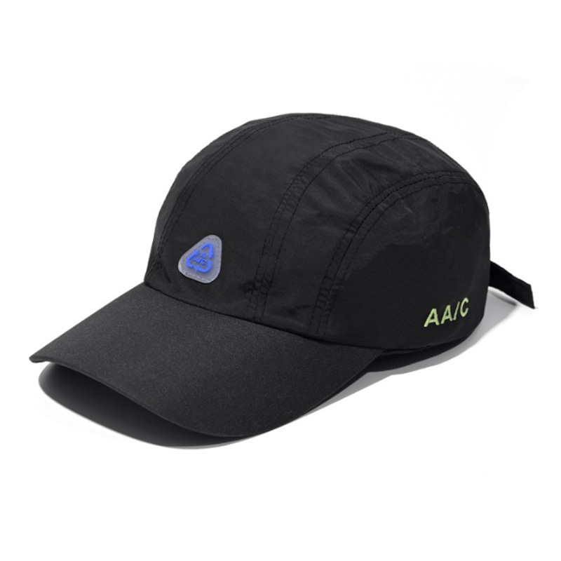 AA/C NYLON 5-PANEL CAP BLACK