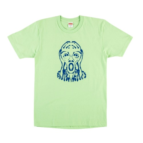 SCREAM TEE LIGHT GREEN