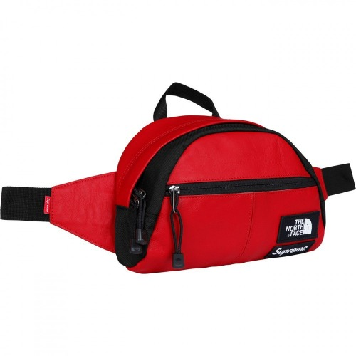 LEATHER WAIST BAG RED