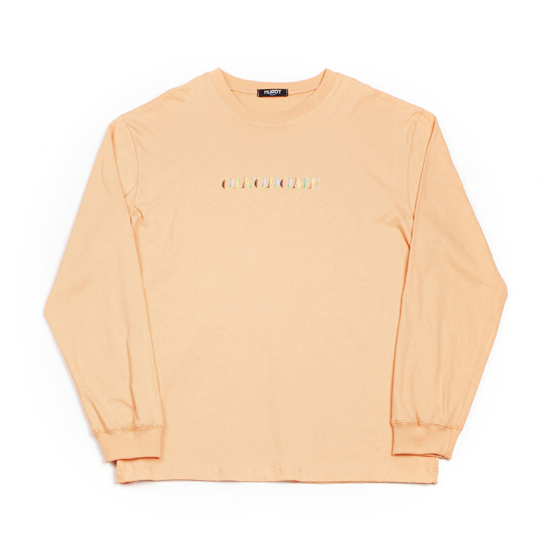 OIKODOME LONG SLEEVE T-SHIRT PEACH
