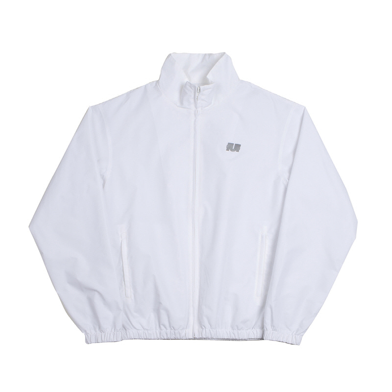 LOGO TRACK ZIP UP WHITE
