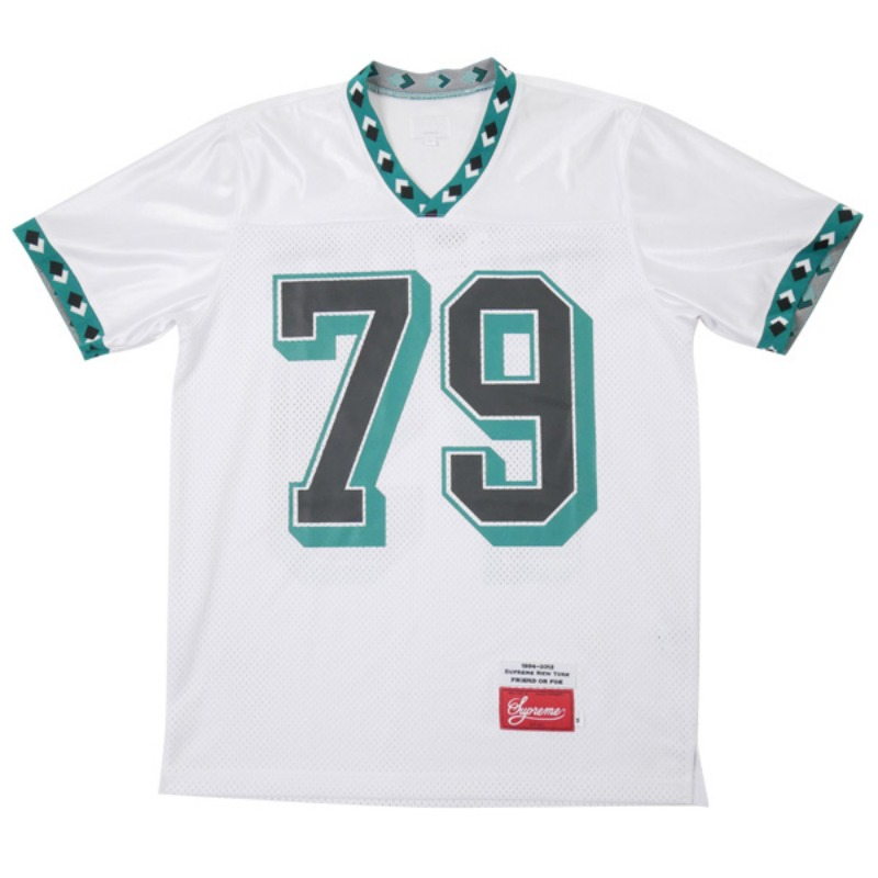 FOOTBALL JERSEY DIAMOND RIB (WHITE)