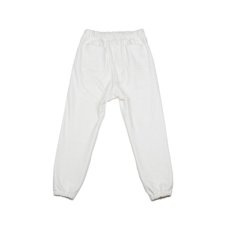 JERSEY JOGGER PANTS WHITE IVORY