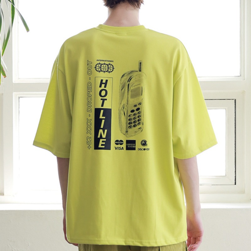 HOT-LINE OVERSIZED T-SHIRTS MSNTS008-LG
