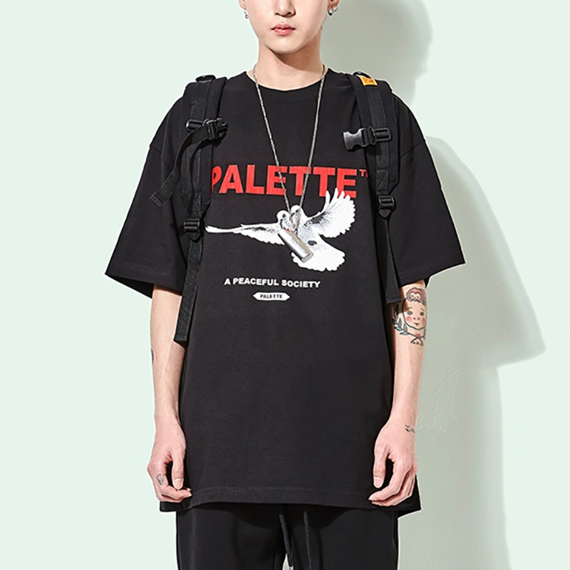 PEACEFUL SOCIETY TEE (BLK)