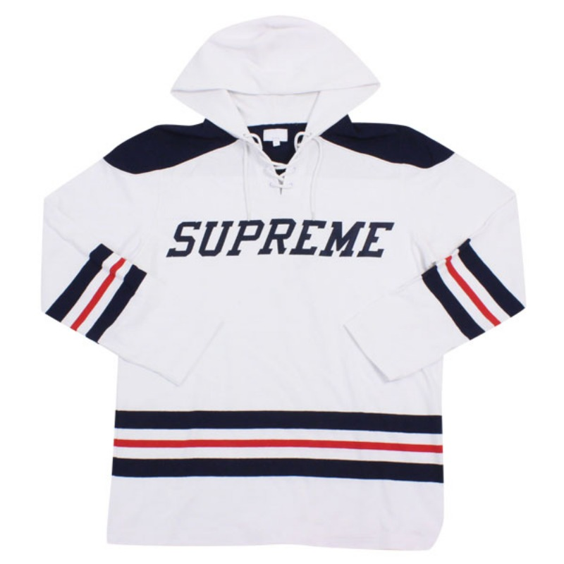 HOODED HOCKEY TOP WHITE