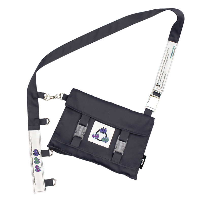 THREE FLAME MINI CROSS BAG V2 (GRAY/VIOLET)