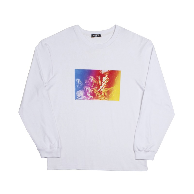 DANIEL LONG SLEEVE T-SHIRT WHITE