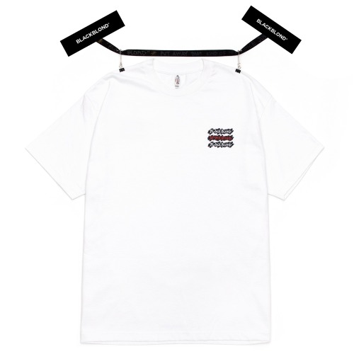 BBD GRAFFITI LOGO SHORT SLEEVE TEE WHITE