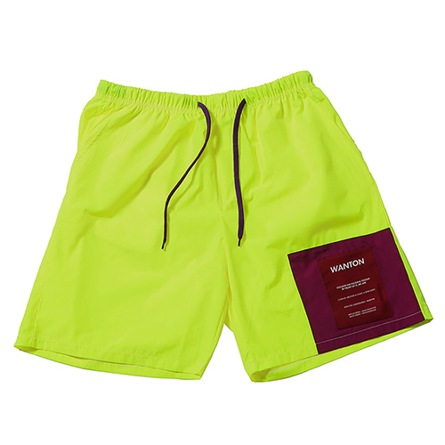 TWO TONE SHORTS LIME